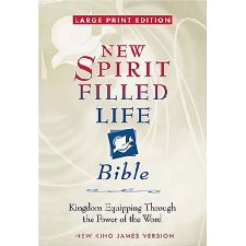 Large Print New Spirit-Filled Life Bible: Kingdom Equipping Through the Power of the Word(Burgundy Bonded Leather)