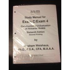 asm study manual for exam c exam 4 16th edition by abraham weishaus rh allbookstores com BSA Exam Manual FDIC Exam Manual
