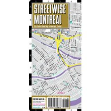 Streetwise Montreal Map Laminated City Center Street Map Of - Laminated folding us map